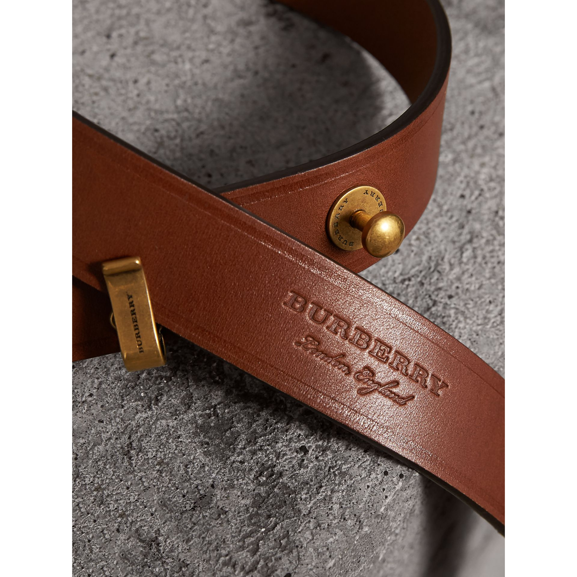 Bridle Leather Belt in Tan - Women | Burberry United Kingdom - gallery image 1
