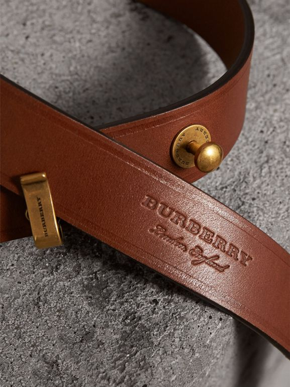 Bridle Leather Belt in Tan - Women | Burberry - cell image 1