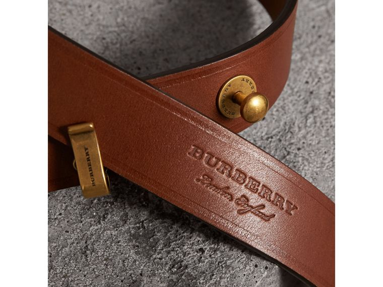 Bridle Leather Belt in Tan - Women | Burberry United Kingdom - cell image 1
