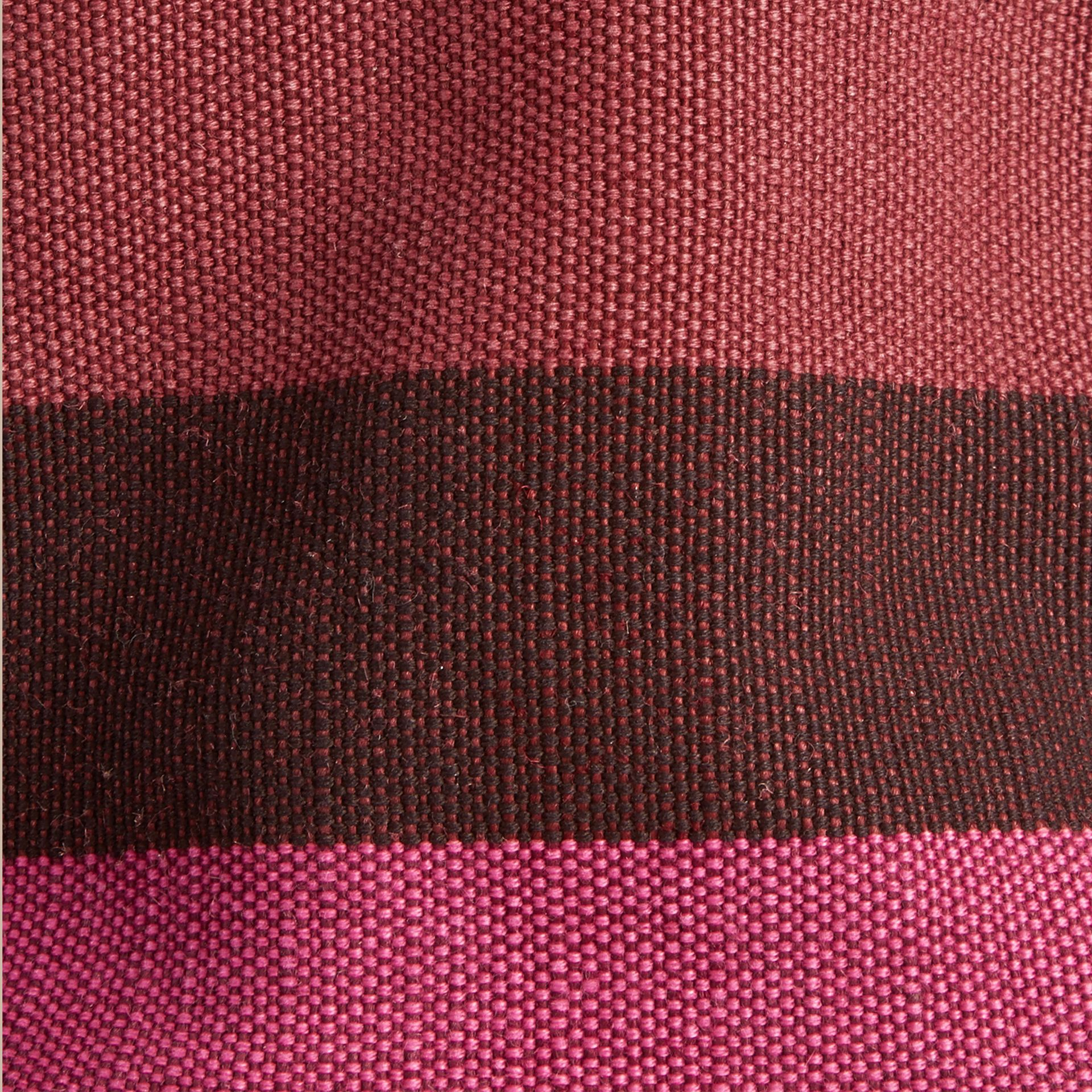 Plum The Small Ashby in Overdyed Canvas Check and Leather Plum - gallery image 2