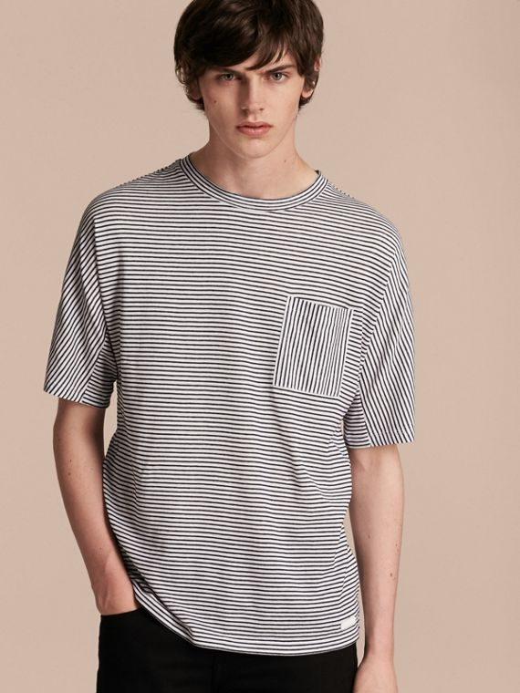 Striped Cotton Linen T-shirt