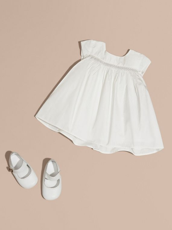 Embroidered Taffeta Dress with Bloomers