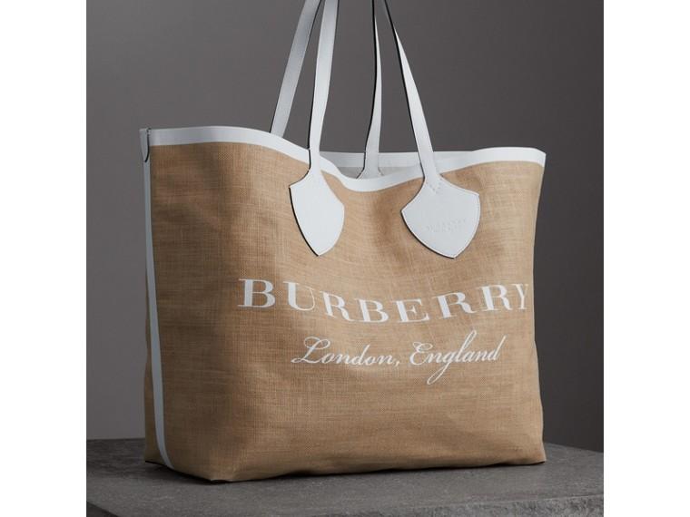 The Giant Tote aus Jute mit Burberry-Logo (Kreideweiss) - Damen | Burberry - cell image 4
