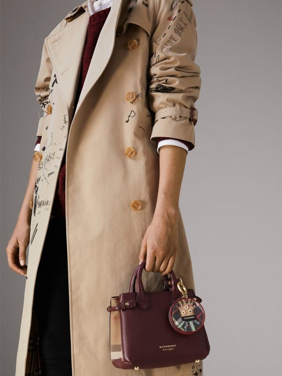 The Baby Banner in Leather and House Check in Mahogany Red - Women | Burberry - cell image 3