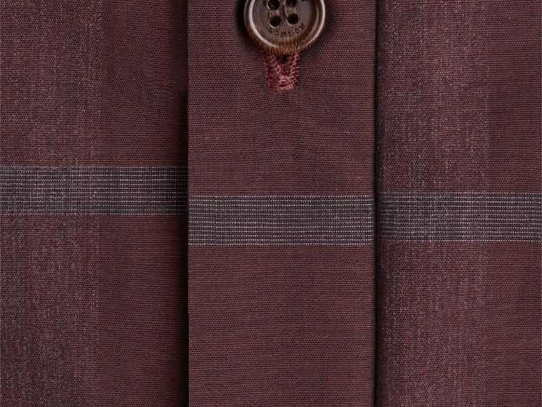 Deep burgundy Check Cotton Shirt Deep Burgundy - cell image 1
