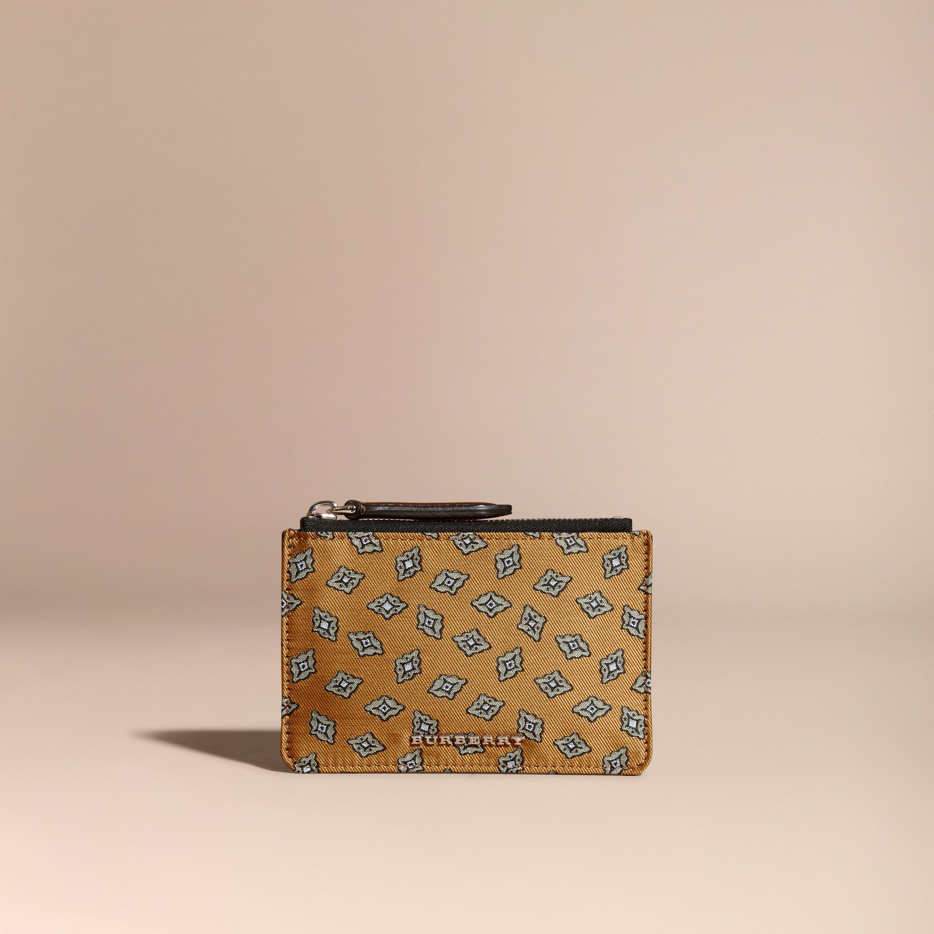 Citrus yellow Geometric Tile Jacquard Zip-top Wallet Citrus Yellow - gallery image 6