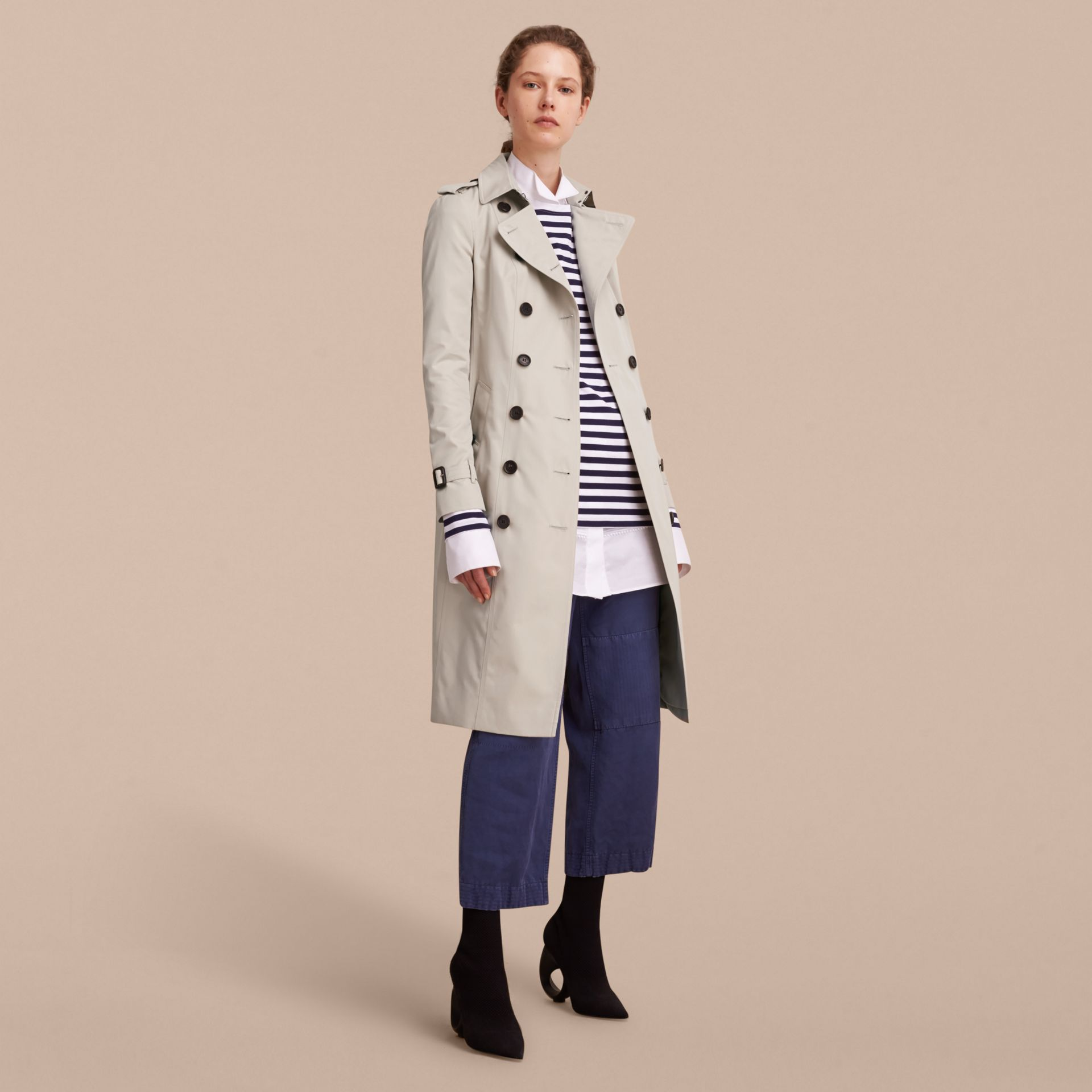 The Sandringham – Extra-long Heritage Trench Coat in Stone - gallery image 7