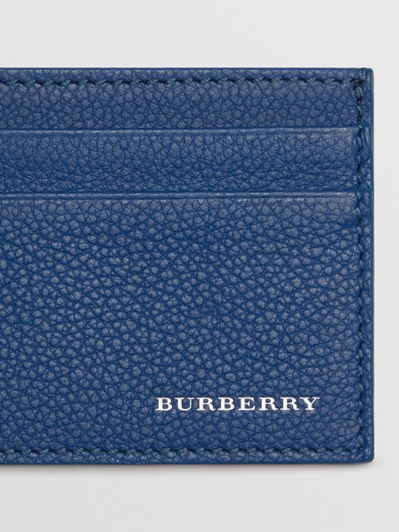 Grainy Leather Card Case in Bright Ultramarine | Burberry - cell image 1