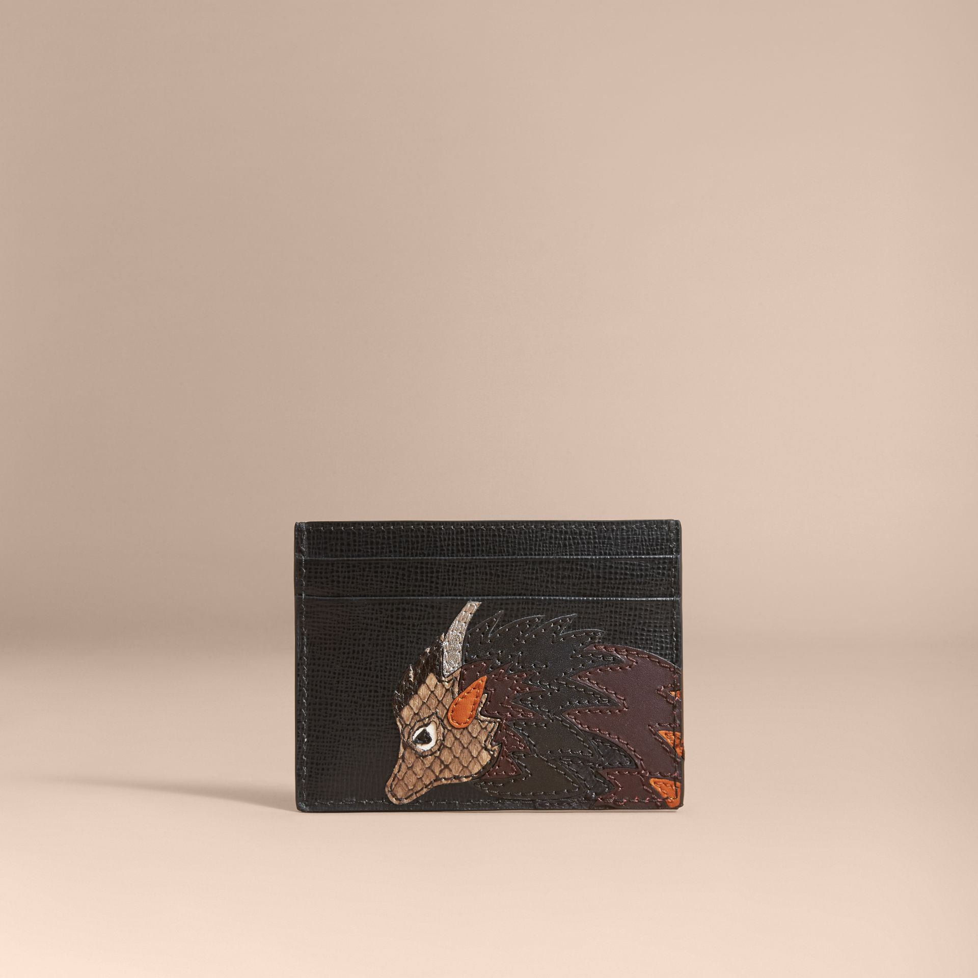 Beasts Motif Leather Card Case - Men | Burberry - gallery image 5
