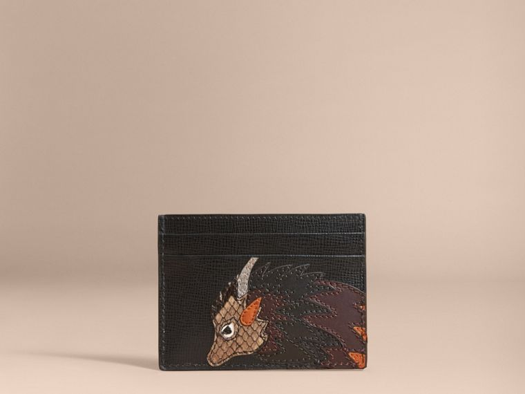 Beasts Motif Leather Card Case - Men | Burberry - cell image 4