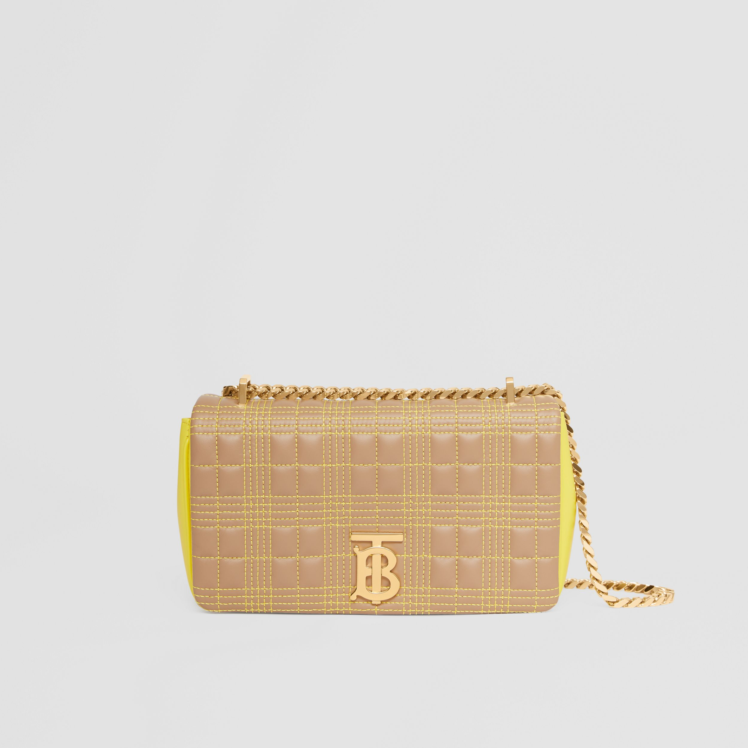 Small Quilted Tri-tone Lambskin Lola Bag in Camel/yellow - Women | Burberry - 1