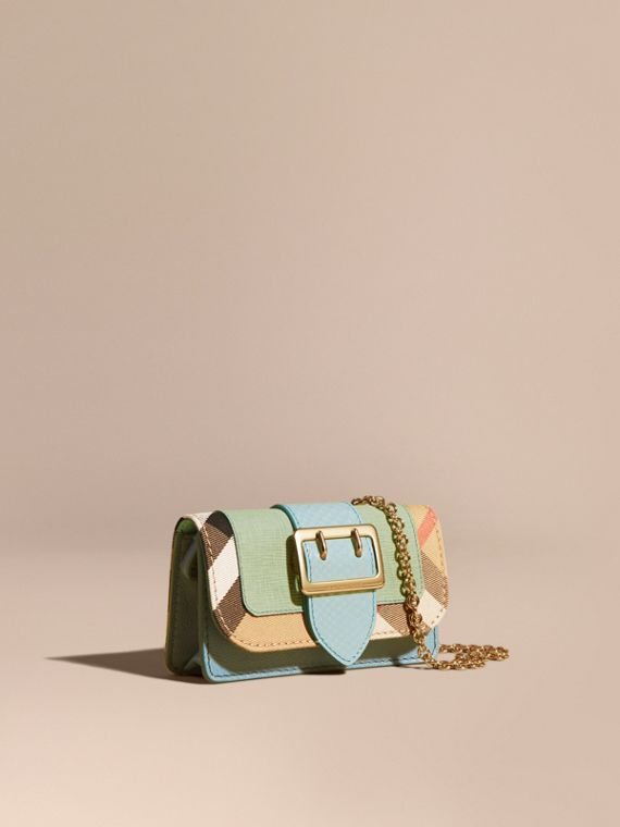 Mini sac The Buckle en peau de serpent et coton House check