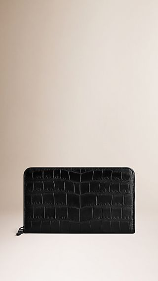 Alligator Leather Travel Wallet