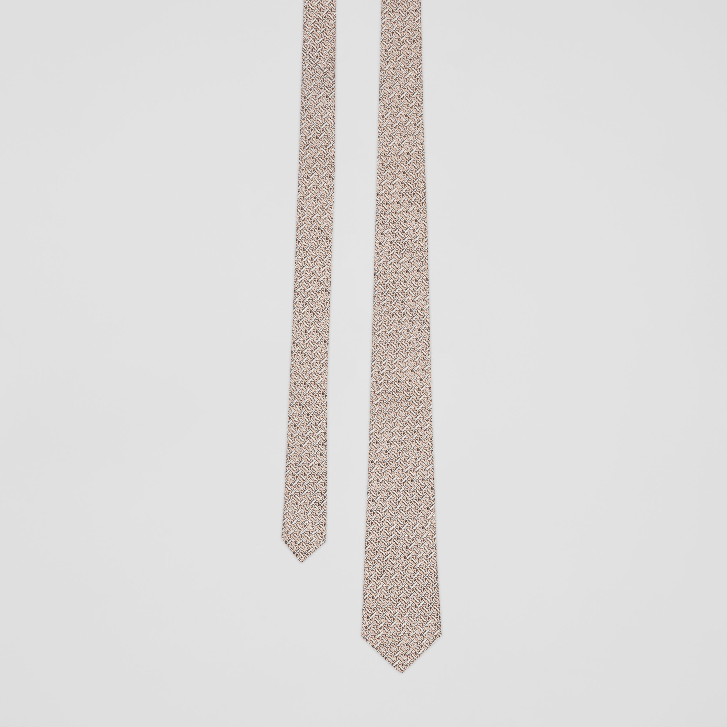 Classic Cut Monogram Silk Jacquard Tie in Blush Pink - Men | Burberry - 1