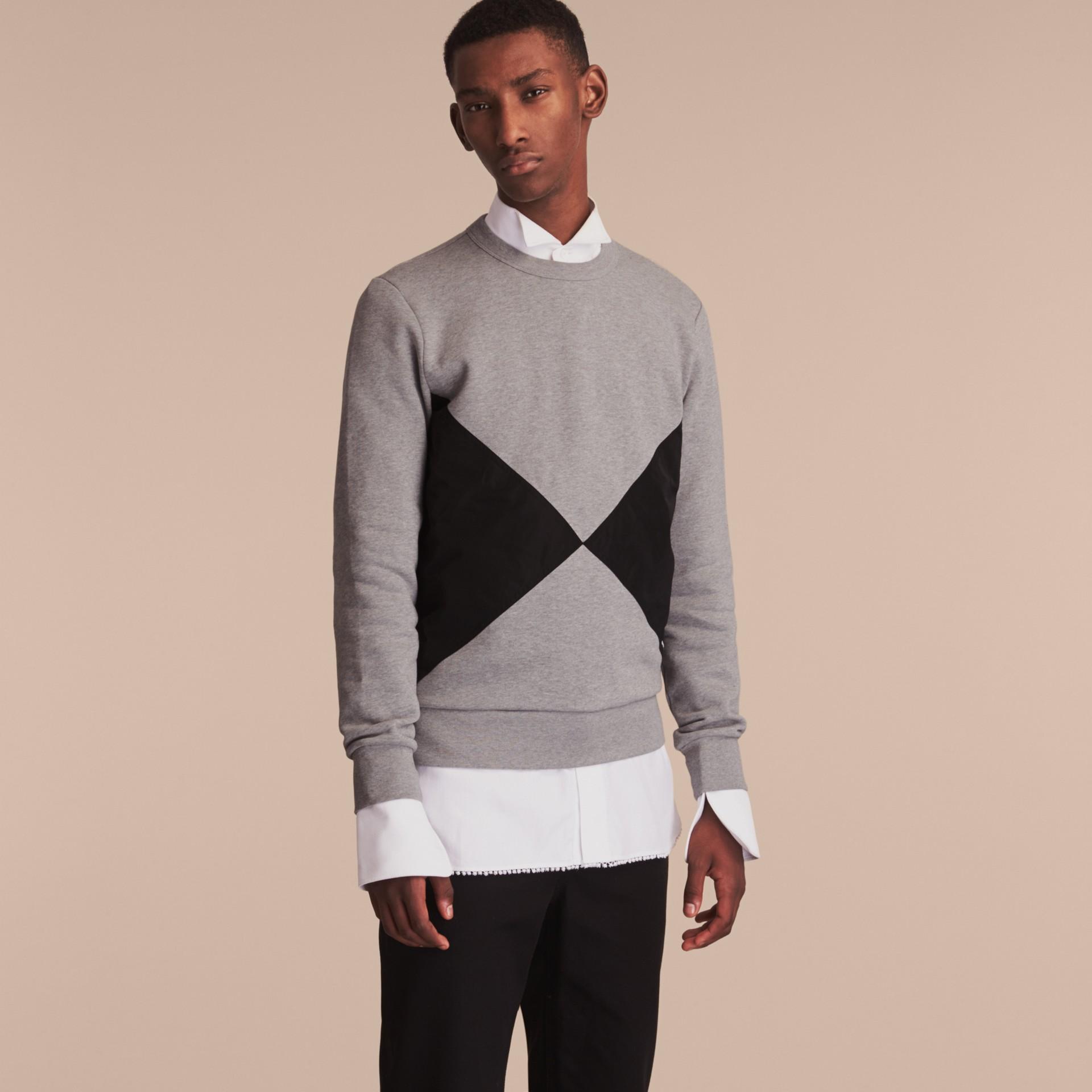 Overlaid Geometric Motif Sweatshirt - gallery image 6
