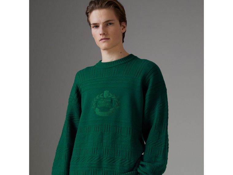 Reissued Wool Sweater in Dark Green - Men | Burberry - cell image 4