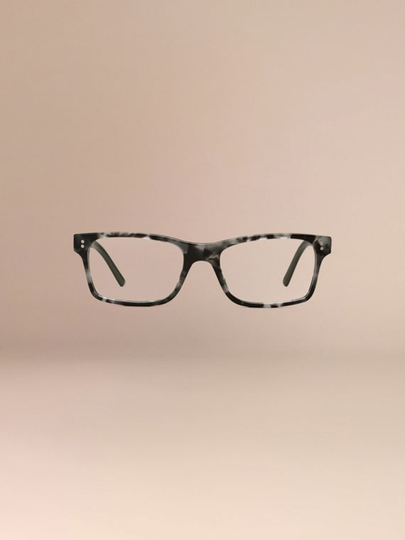 Rectangular Optical Frames Pale Grey Melange - cell image 2
