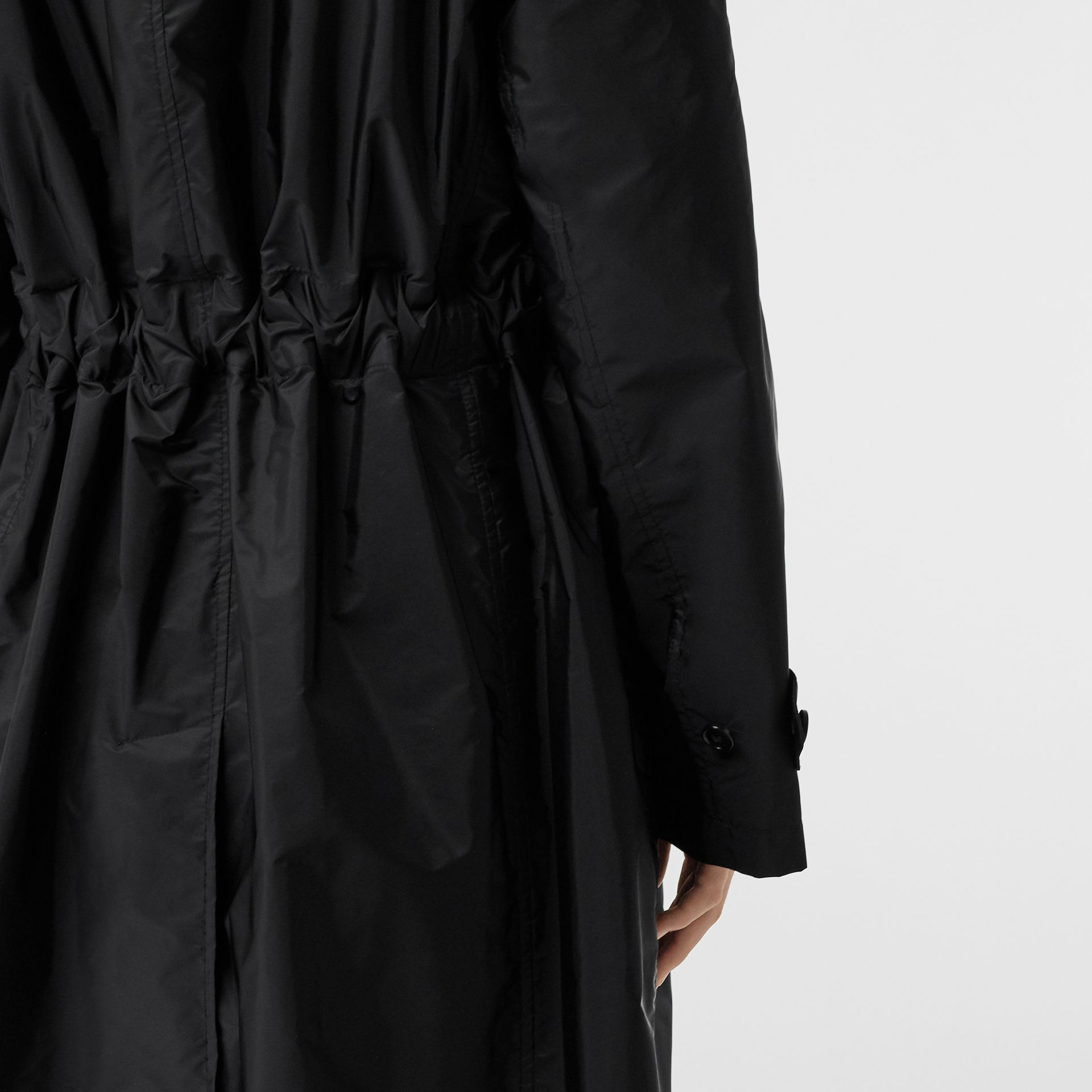 Detachable Hood Taffeta Parka in Black - Women | Burberry - gallery image 5