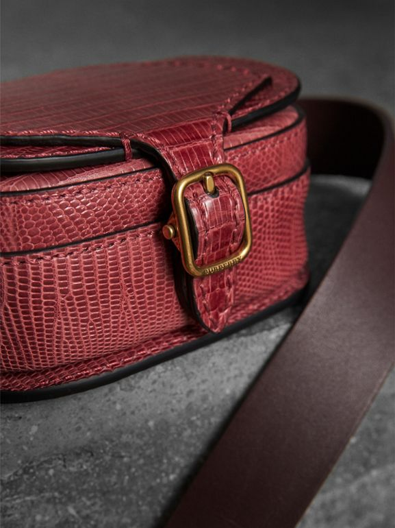 The Pocket Satchel in Lizard in Dark Crimson - Women | Burberry Australia - cell image 1