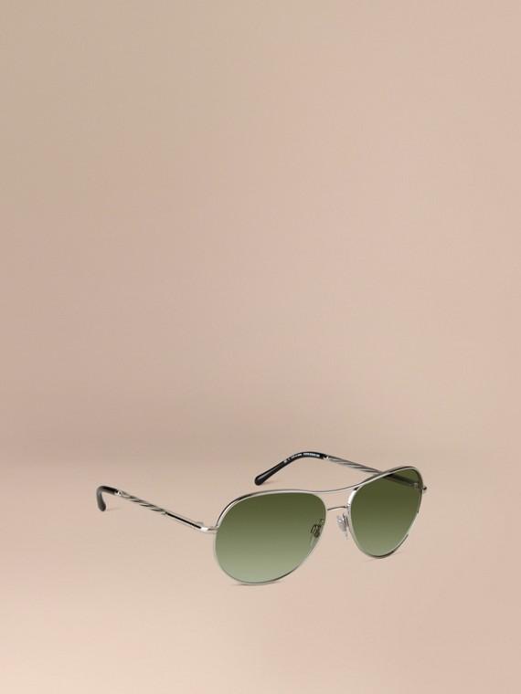 Lunettes de soleil Aviator – Collection Gabardine Argent