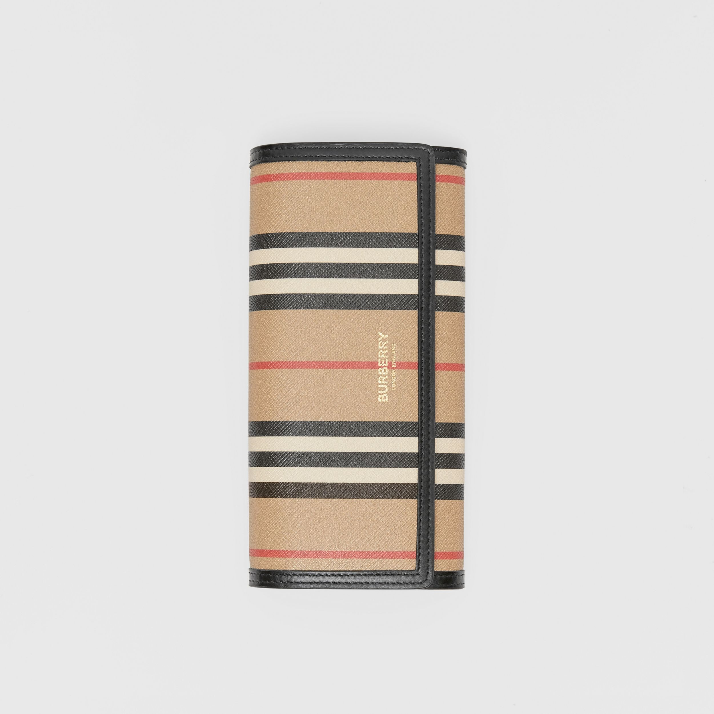 Icon Stripe E-canvas Continental Wallet in Archive Beige - Women | Burberry - 2