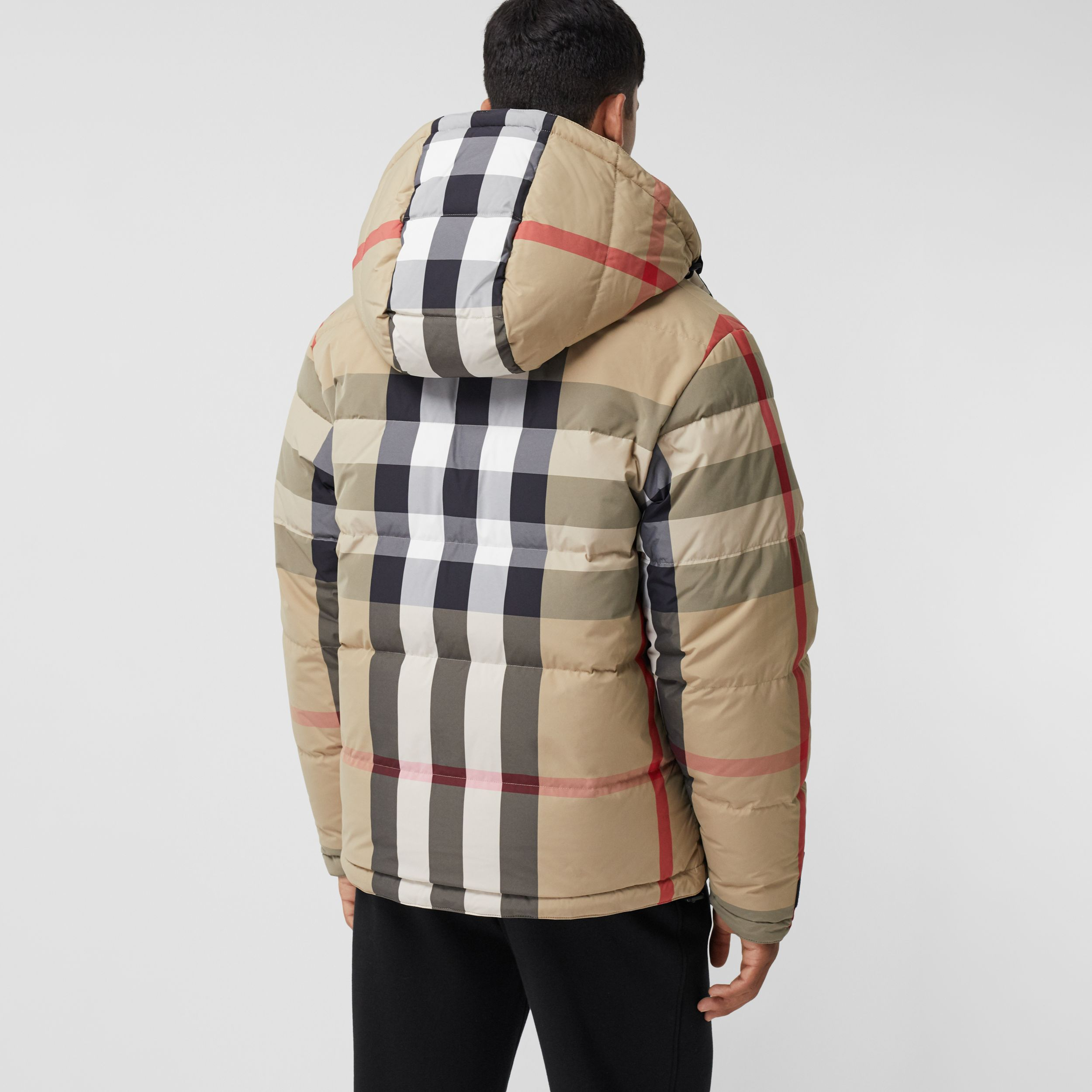 Reversible Recycled Nylon Re:Down® Puffer Jacket in Archive Beige/black - Men | Burberry - 3