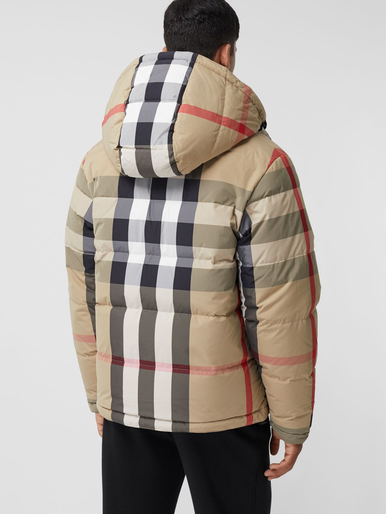 Reversible Recycled Nylon Re:Down® Puffer Jacket in Archive Beige/black