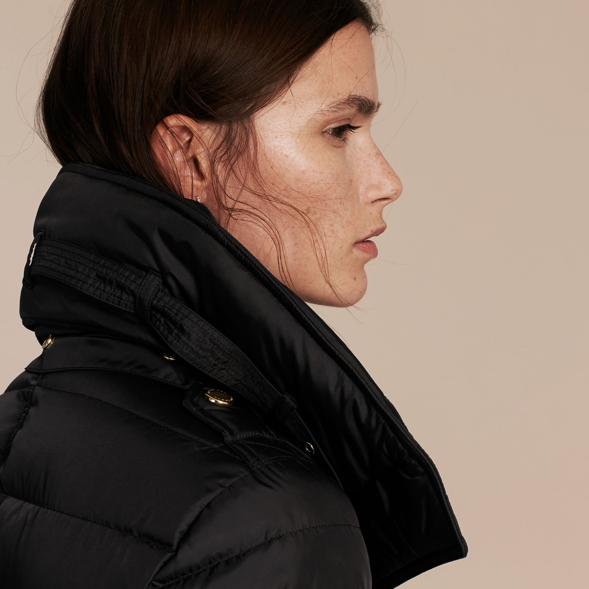 Down-filled Puffer Coat with Packaway Hood - Women | Burberry - gallery image 6