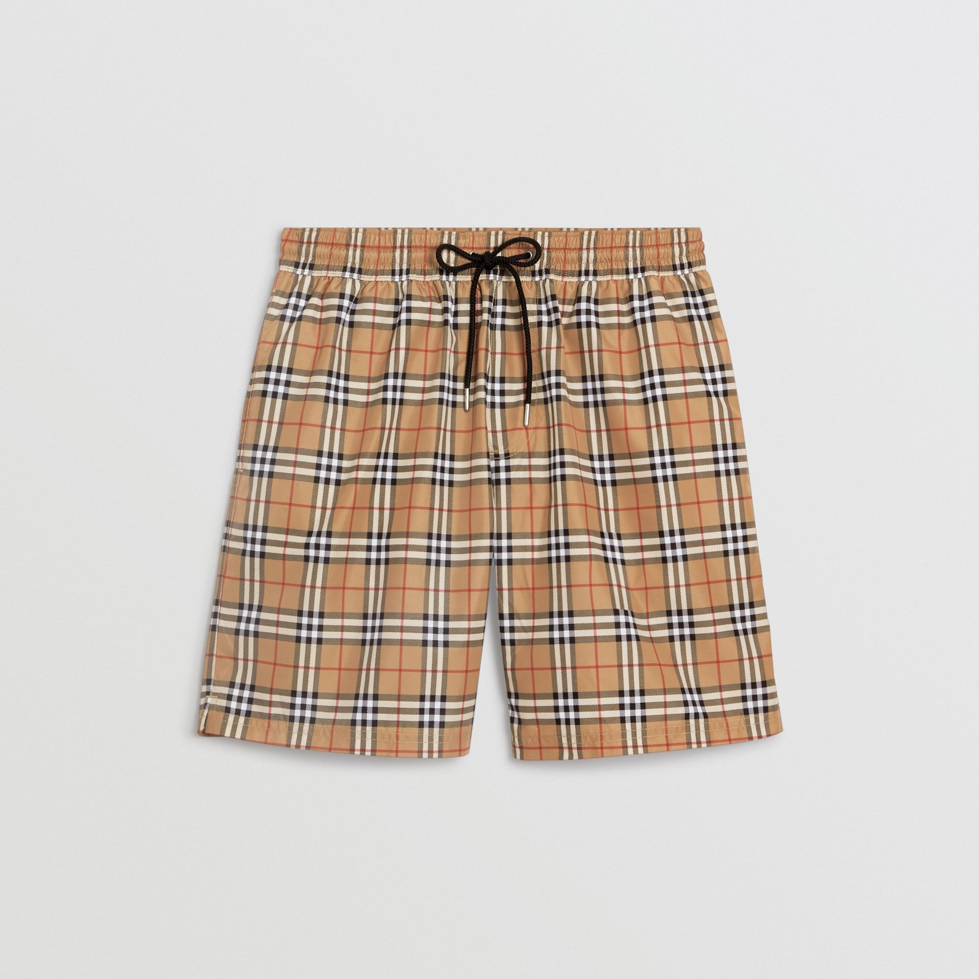 Check Drawcord Swim Shorts in Camel | Burberry - gallery image 2