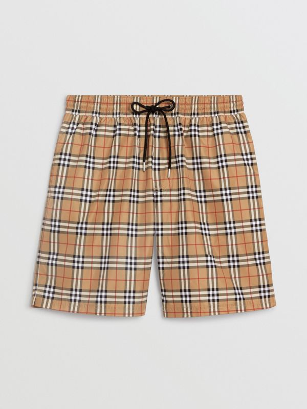 Check Drawcord Swim Shorts in Camel | Burberry Singapore - cell image 2