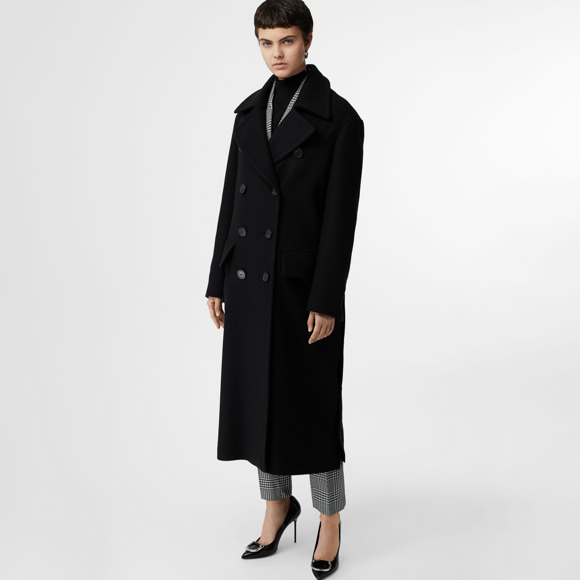 Double-faced Cashmere Tailored Coat in Black - Women | Burberry United Kingdom - gallery image 5