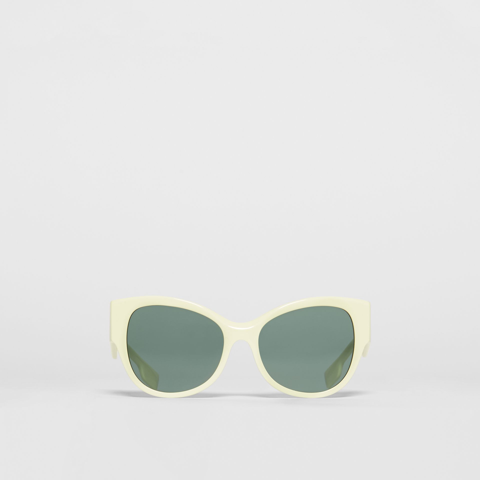 Butterfly Frame Sunglasses in Pistachio - Women | Burberry - gallery image 0