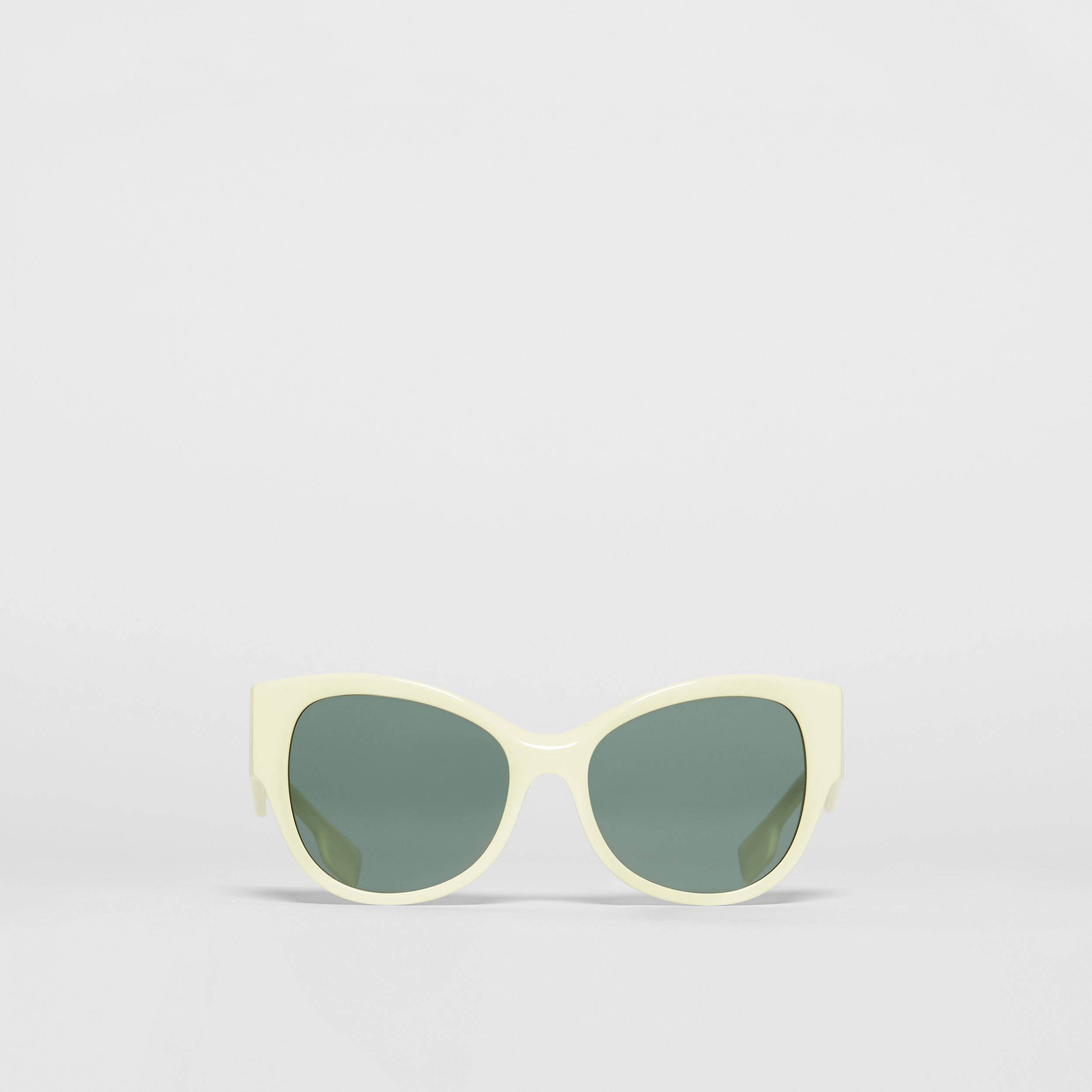 Butterfly Frame Sunglasses in Pistachio - Women | Burberry - 1