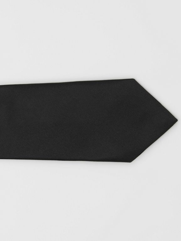 Modern Cut Silk Satin Tie in Black - Men | Burberry United Kingdom - cell image 1