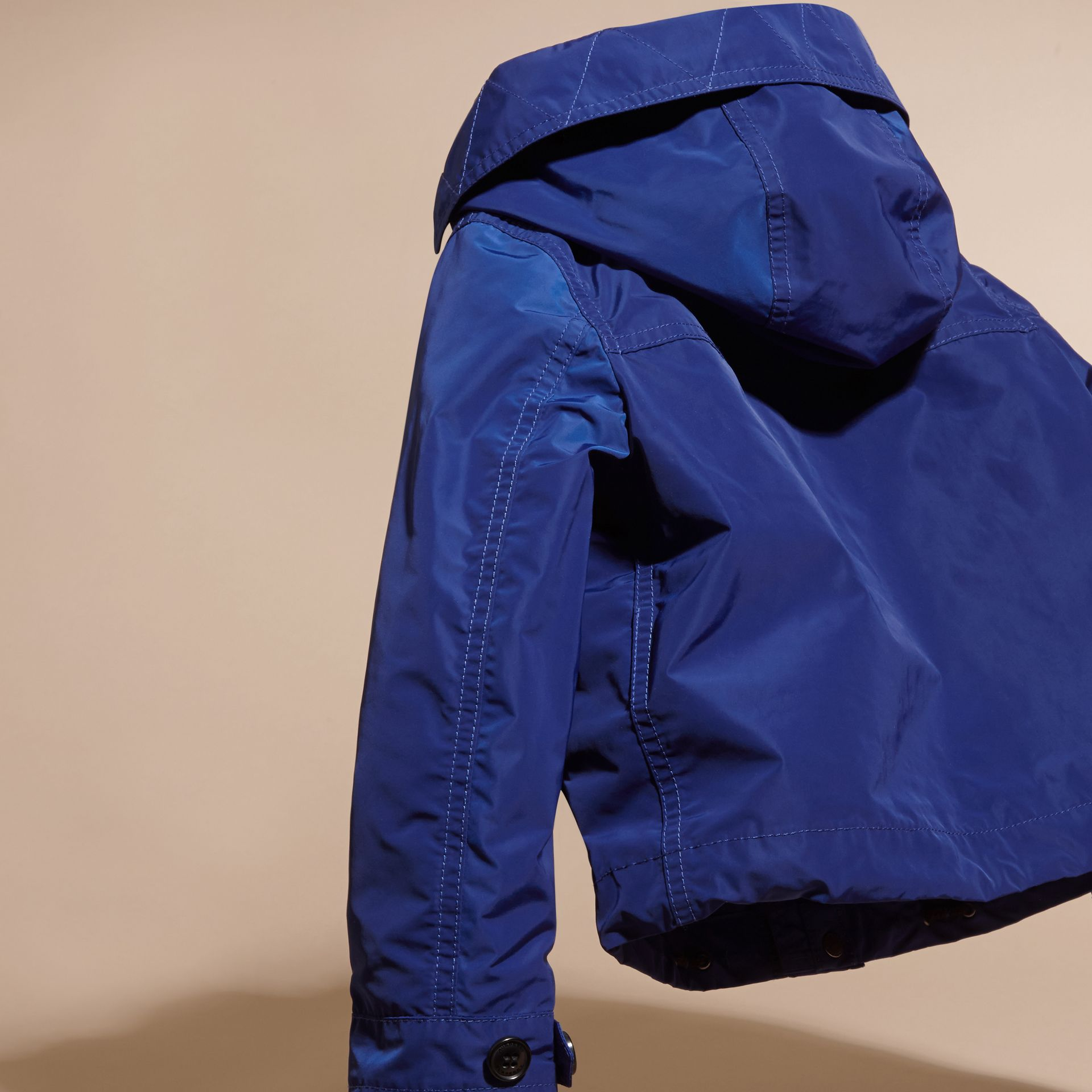 Bright lapis Hooded Packaway Technical Jacket - gallery image 4