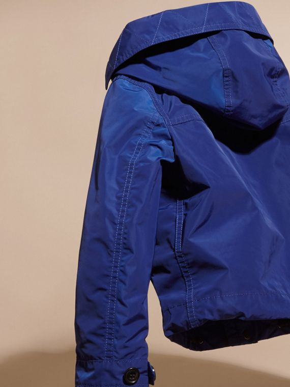 Bright lapis Hooded Packaway Technical Jacket - cell image 3