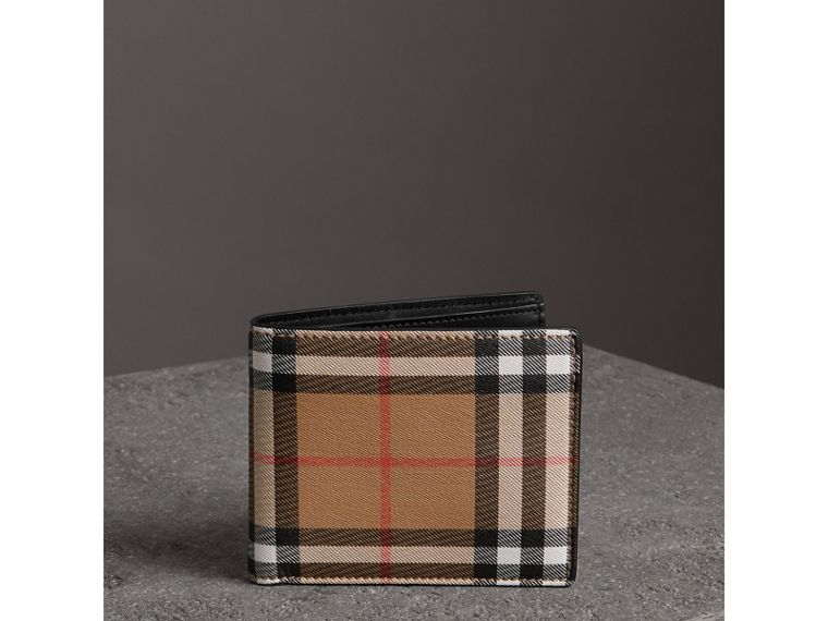 Vintage Check Leather ID Wallet in Black - Men | Burberry United States - cell image 4