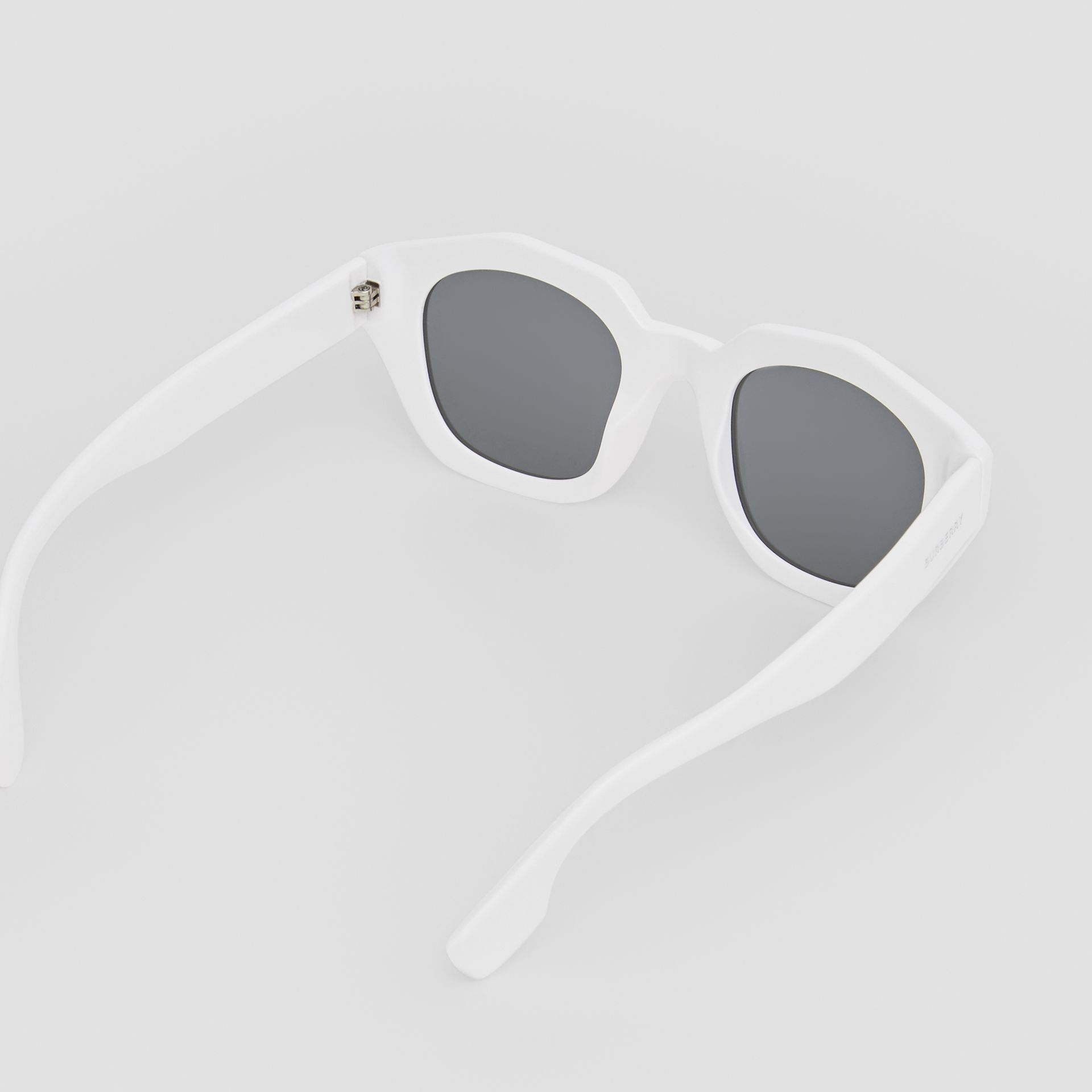 Geometric Frame Sunglasses in White - Women | Burberry Canada - gallery image 4