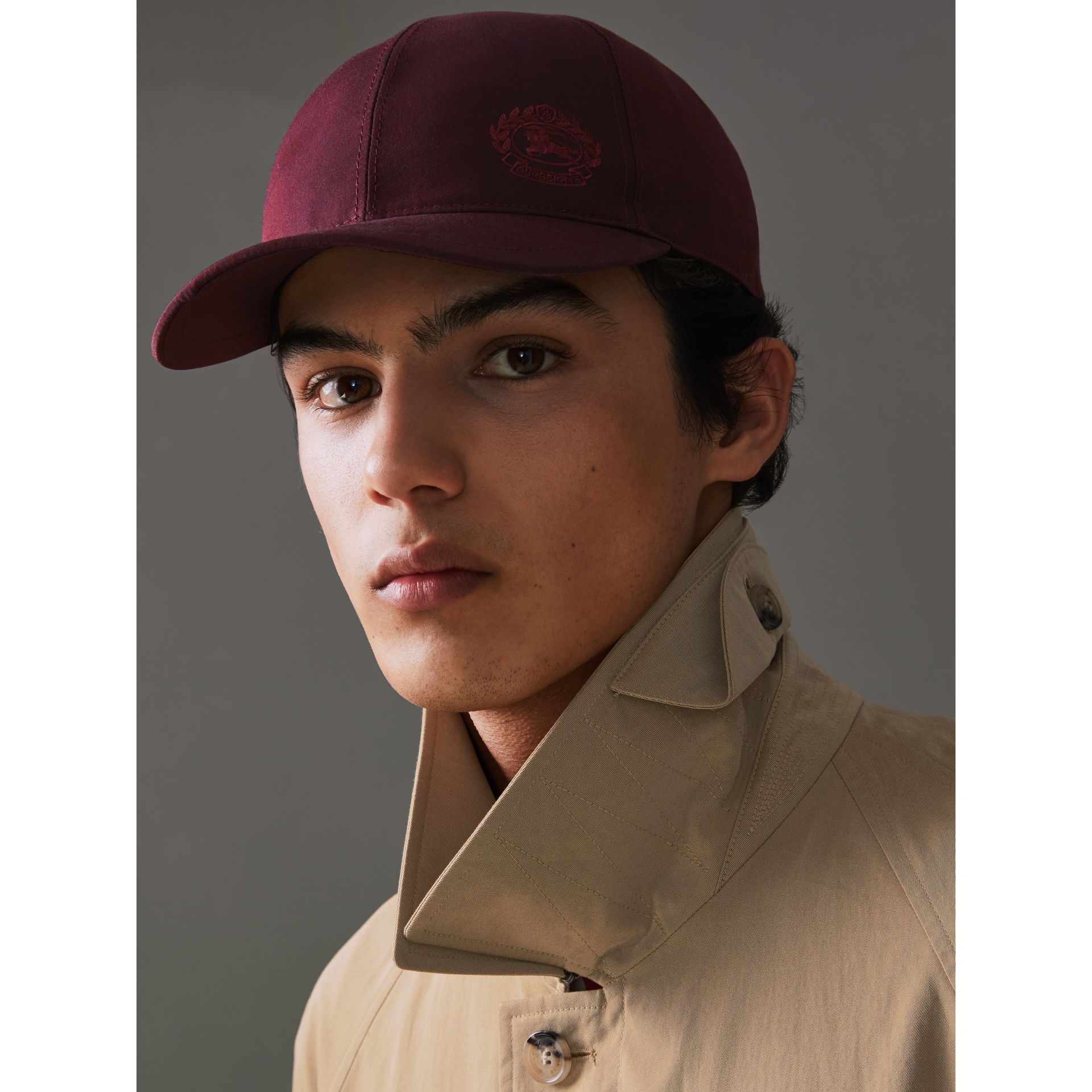 Archive Logo Baseball Cap in Boysenberry | Burberry - gallery image 2