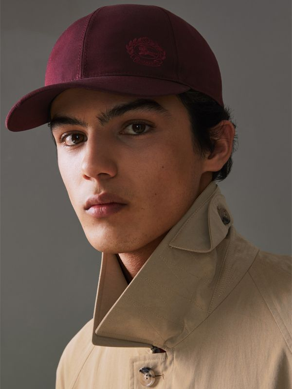 Archive Logo Baseball Cap in Boysenberry | Burberry United States - cell image 2