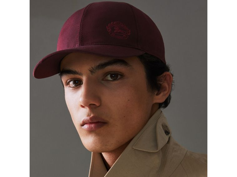 Archive Logo Baseball Cap in Boysenberry | Burberry Hong Kong - cell image 2