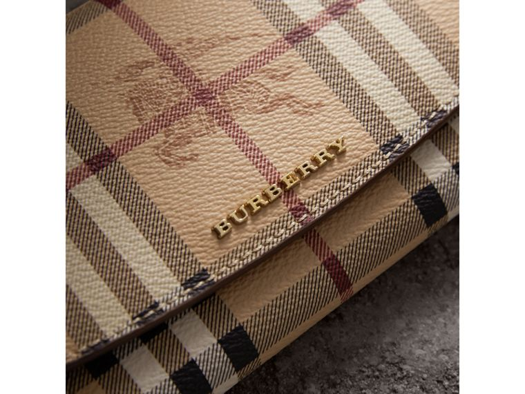 Haymarket Check and Leather Slim Continental Wallet - Women | Burberry - cell image 1