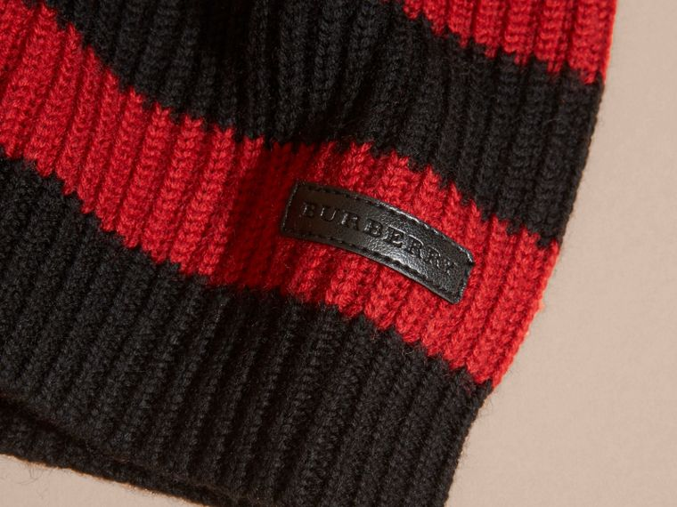 Parade red Striped Merino Wool Sweater - cell image 1