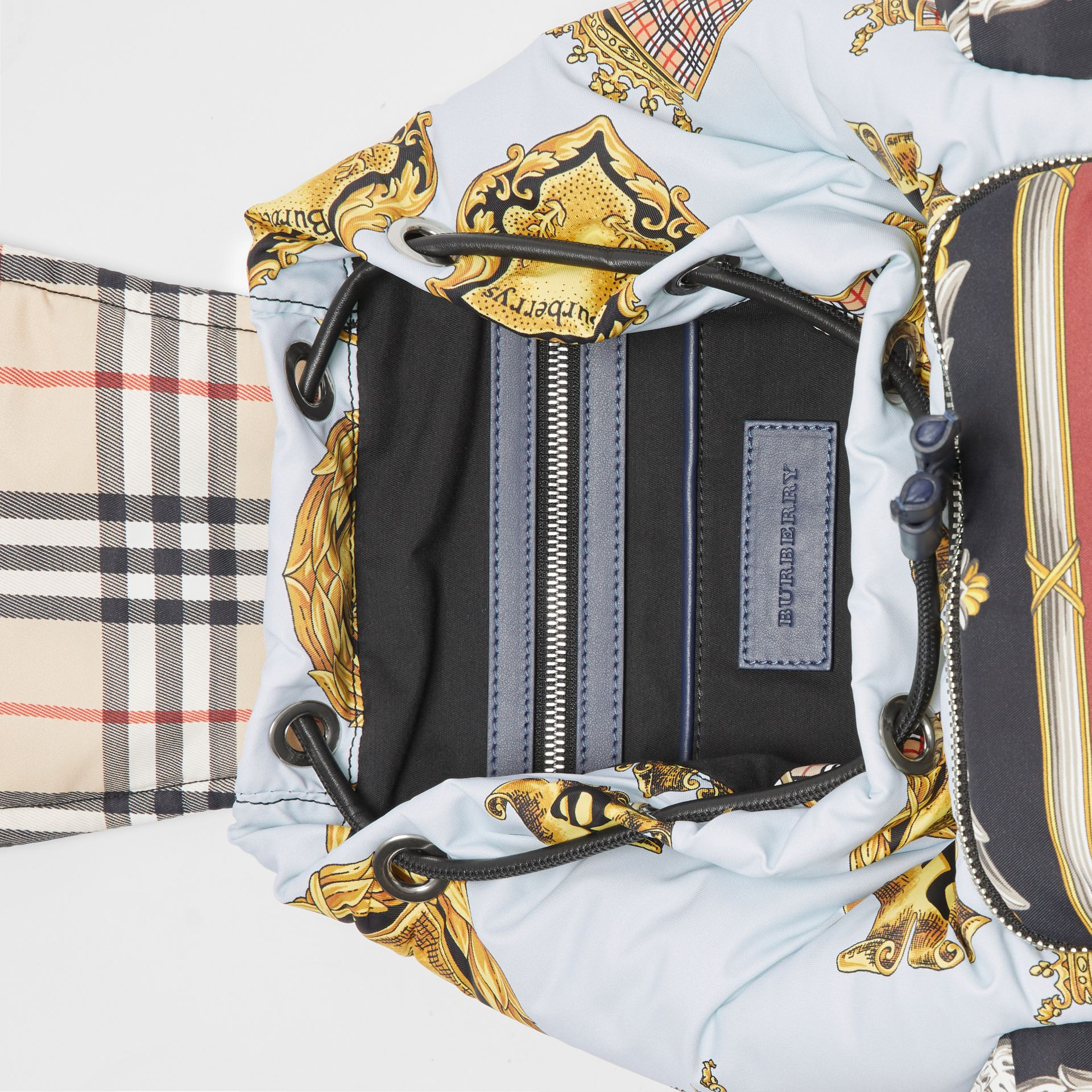 The Medium Rucksack in Archive Scarf Print in Ink Blue - Women | Burberry United Kingdom - gallery image 4