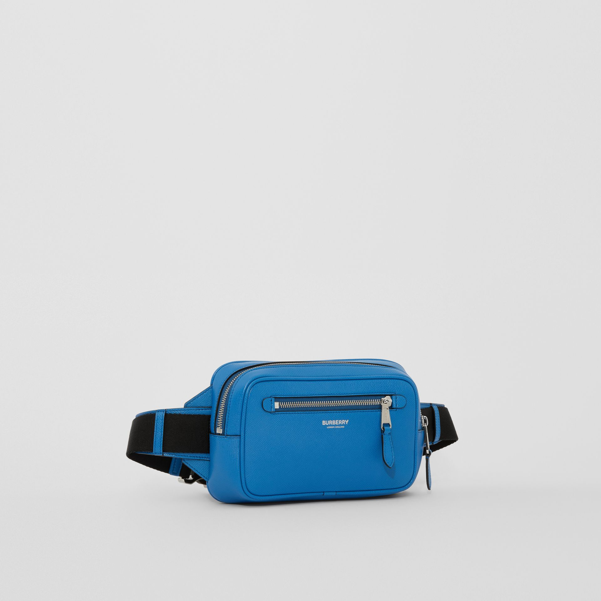 Grainy Leather Bum Bag in True Blue - Men | Burberry United States - gallery image 8