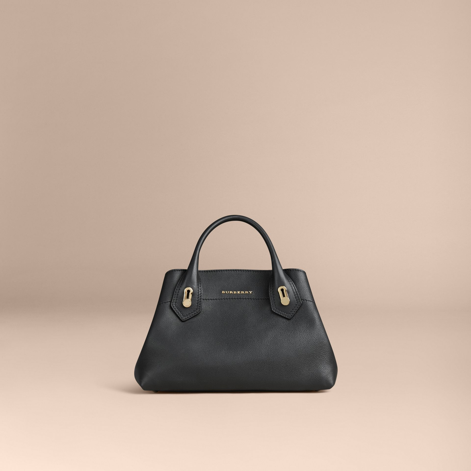 Noir Petit sac The Milton en cuir grené Noir - photo de la galerie 6