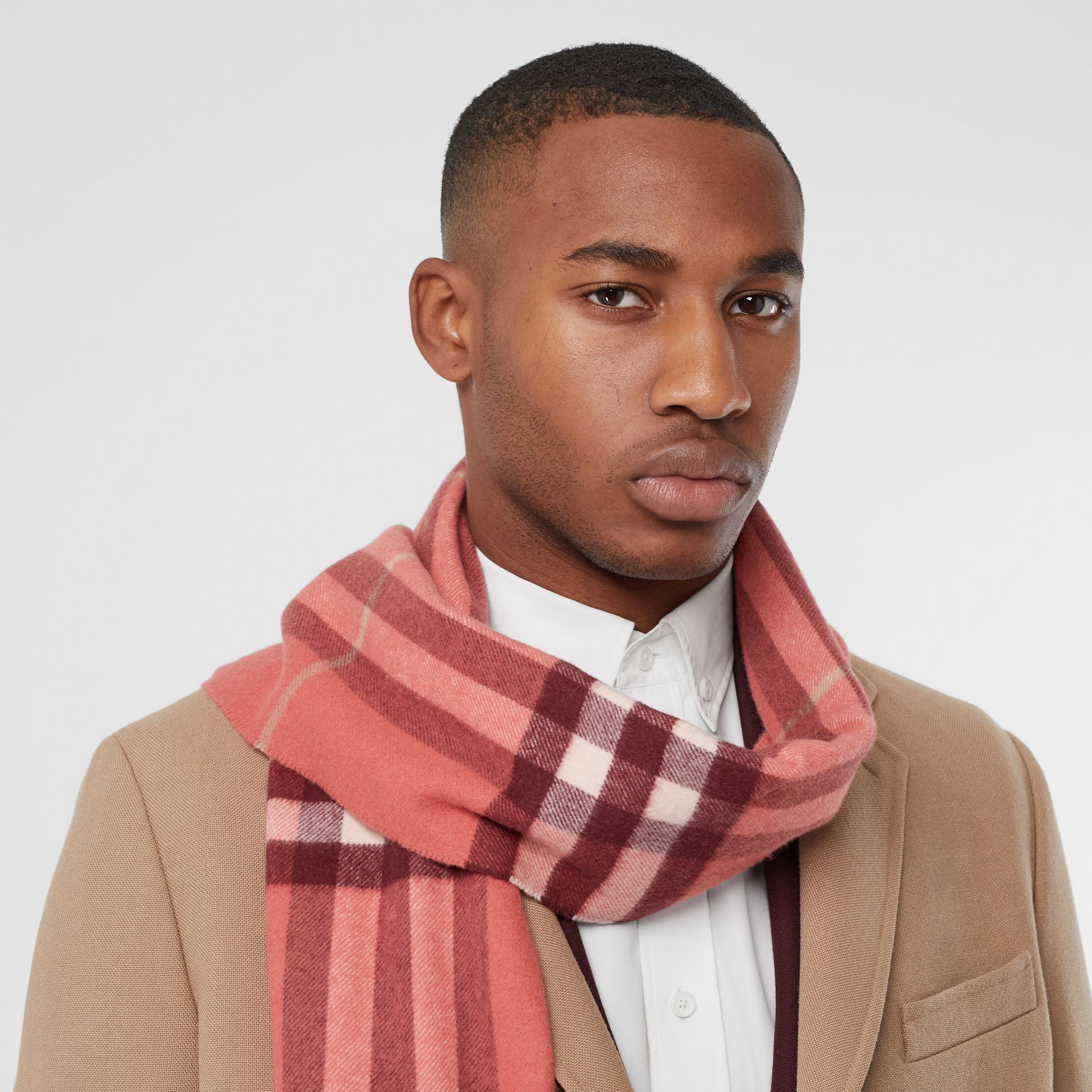 The Classic Check Cashmere Scarf in Clay Sienna | Burberry - gallery image 2
