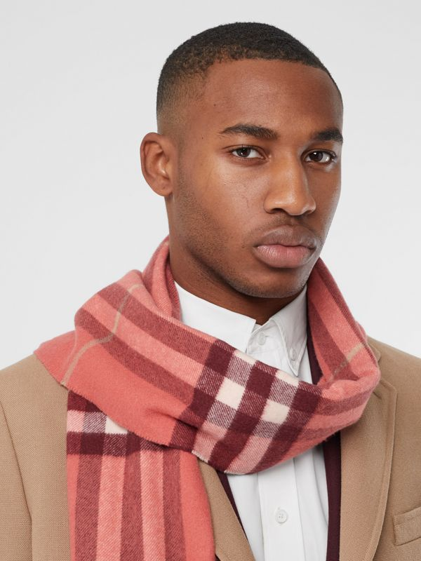 The Classic Check Cashmere Scarf in Clay Sienna | Burberry - cell image 2