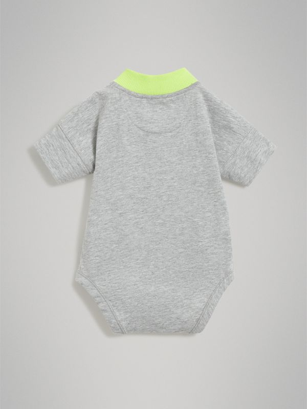Equestrian Knight Print Cotton Bodysuit in Lime - Children | Burberry - cell image 3
