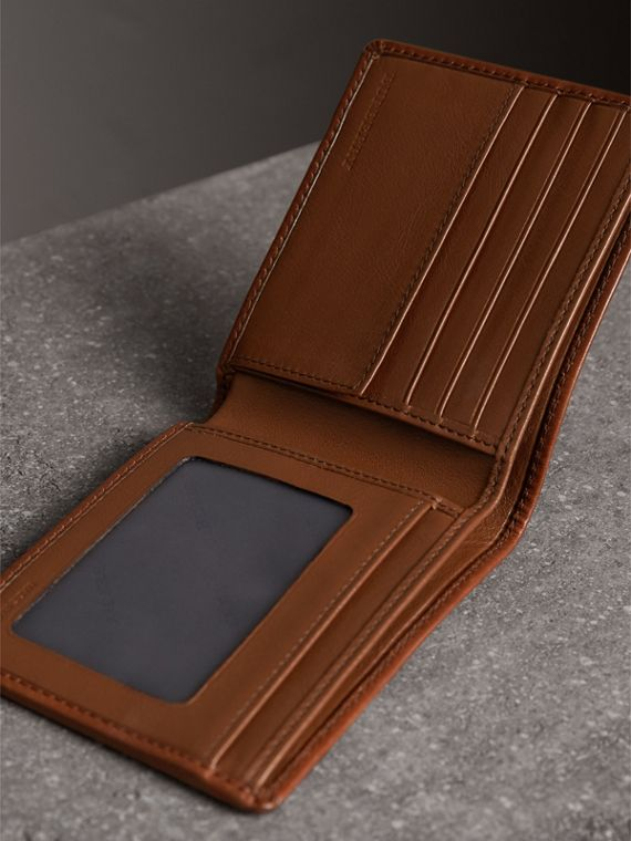 Horseferry Check ID Wallet in Tan - Men | Burberry United Kingdom - cell image 3